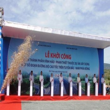 Khởi công cao tốc Vĩnh Hảo - Phan Thiết dài 100km qua Bình Thuận